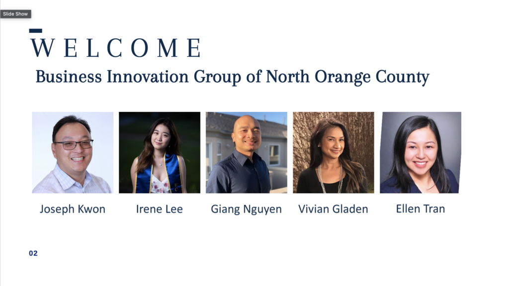 Business Innovation Group of North Orange County Steering Committee. Equip Your Organization for 2021