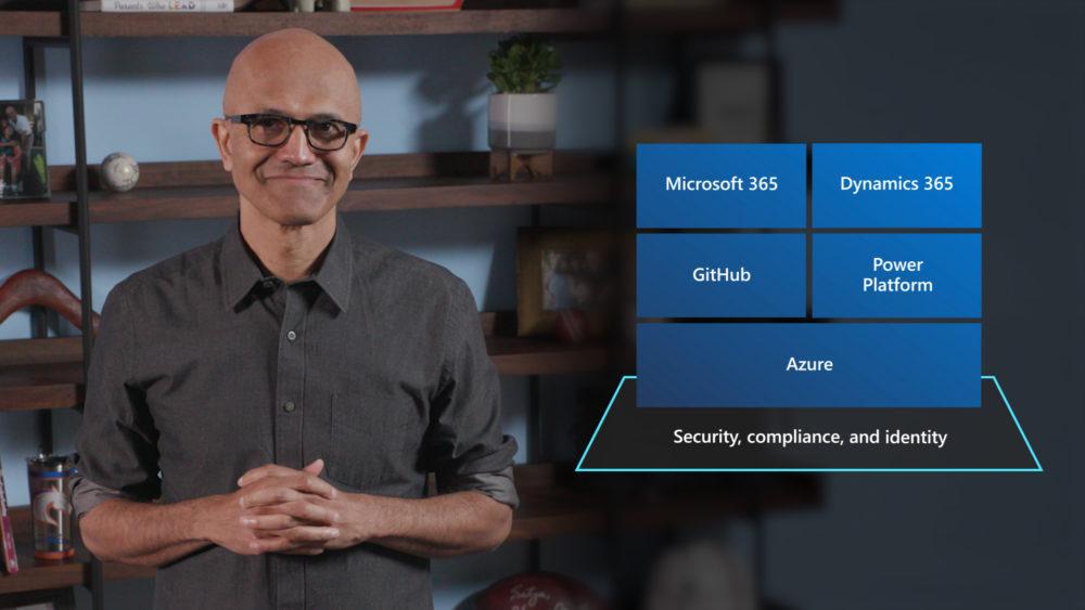 Satya Nadella during Microsoft Inspire 2020